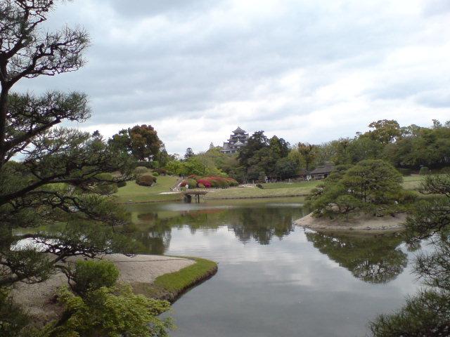 後楽園から岡山城